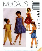 McCall's 8787 Dress Jumpsuit Romper Size 7 - 10
