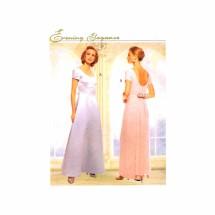 Formal Evening Wedding Dress McCalls 8836 Sewing Pattern Size 10 - 12 - 14