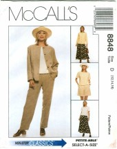 McCall's 8848 Misses Jacket Top Pants Shorts Skirt Size 12 - 16