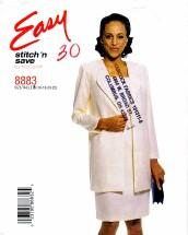 McCall's 8883 Sewing Pattern Full Figure Jacket Dress Size 16 - 22
