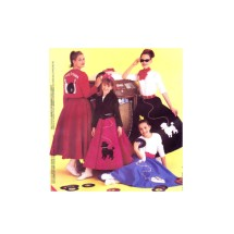 Misses Poodle Skirt Top Bowling Jacket McCalls 8899 Sewing Pattern Size 12 - 14