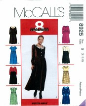 McCall's 8925 Misses Dress Skirt Size 8 - 12