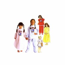 Girls Nightgown Pajamas Raggedy Ann & Andy McCalls 8941 Sewing Pattern Size 10 - 12