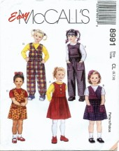 McCall's 8991 Girls Jumper & Jumpsuit Size 6 - 8