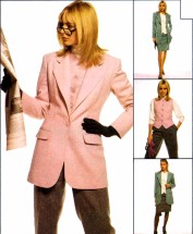 Jacket Vest Pants Skirt McCall's 9008 Sewing Pattern Size 8 Bust 31 1/2