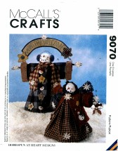 McCall's 9070 Crafts Sewing Pattern Wintery Welcome Snow People Dolls