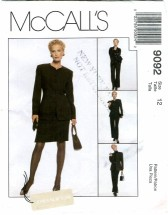 McCall's 9092 Jacket Shirt Pants Skirt Size 12 - Bust 34