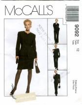 McCall's 9092 Jacket Shirt Pants Skirt Size 12 - Bust 34