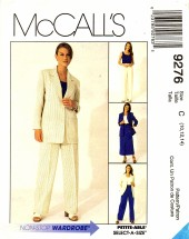 McCall's 9276 Sewing Pattern Misses Jacket Top Pants Skirt Suit Size 10 - 12 - 14