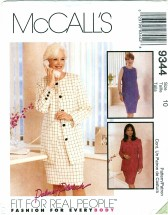 McCall's 9344 Misses Lined Jacket & Dress Size 10