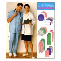 Medical Lab Jackets Cardigan Pants Skirt McCalls 9359 Sewing Pattern Plus Size Bust 42 - 44 - 46 - 48