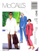 McCall's 9401 Shirt Skirt Pants Size 12 - 14 - Bust 34 - 36