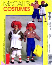 McCall's 9494 Sewing Pattern Adult Raggedy Ann Andy Costumes Bust / Chest 36 - 38