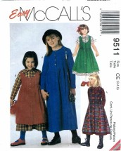 McCall's 9511 Girls Dress & Jumper Size 3 - 5