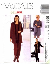 McCall's 9514 Tops Pants Jacket Skirt Size 10 - 14 - Bust 32 1/2 - 36