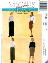McCall's 9549 Palmer & Pletsch 1 Hour Skirts Size 10