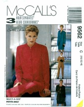 McCall's 9562 Jacket Pants Skirt Top Size 10 - 14