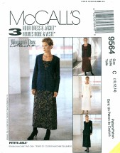 McCall's 9564 Misses Dress & Jacket Size 10 - 14