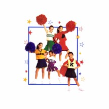 Girls Cheerleader Costumes McCalls 2849 Sewing Pattern Size 8 - 10