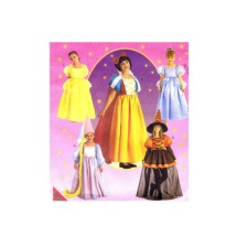 Girls Disney Princess Rapunzel Snow White Cinderella Belle Witch Storybook Costumes McCalls 2856 Sewing Pattern Size 10 - 12 - 14