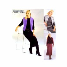 Misses Dress Lined Vest McCalls 3379 Sewing Pattern Size 8 - 10 - 12 - 14