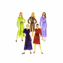 Misses Dress in Two Lengths McCalls 3394 Sewing Pattern Full Figure Size 14 - 16 - 18 - 20