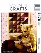 McCall's 3476 Crafts Sewing Pattern Jointed Bear Mini Quilt Ball