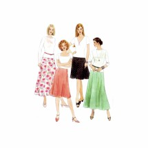 Misses Skirts in Two Lengths McCalls 3518 Sewing Pattern Size 4 - 6 - 8 - 10