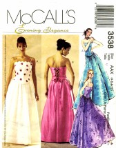 McCall's 3538 Sewing Pattern Formal Boned Lace Up Tops Skirt Size 4 - 10