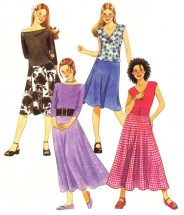Girls Tops Skirts in Two Lengths McCall's 3550 Sewing Pattern Size 7 - 8 - 10