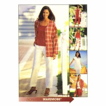 Misses Jacket Vest Top Pants Capri Pants Shorts McCalls 3651 Sewing Pattern Size 8 - 10 - 12 - 14