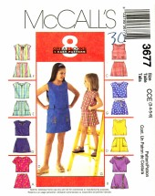 Girls Tops & Skorts Size 3 - 6 McCall's 3677 Sewing Pattern