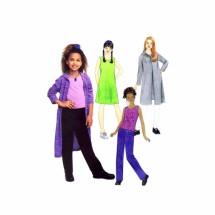 Girls Sweatercoat Dress Top Pants McCalls 3748 Sewing Pattern Size 7 - 8 - 10 - 12
