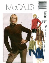 McCall's 3796 Lined Jackets Size 12 - 18