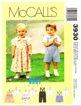 McCall's 3930 Jumper Shorts Pants Blouse Shirt Small - Extra Large