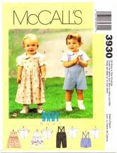 McCall's 3930 Jumper Shorts Pants Blouse Shirt Small - Extra Large