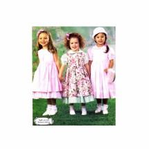 Girls Dresses Pinafore Petticoat McCalls 3949 Sewing Pattern Size 6 - 7 - 8