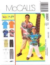 McCall's 3997 Boys Shirts Pants Visor Size 3 - 6