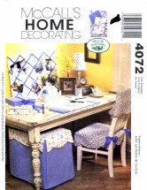 McCall's 4072 Home Decorating Sewing Pattern Blotter Pencil Cup Envelope Caddy Memo Board