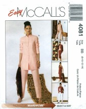 McCall's 4081 Shirt-Jacket Tank Top Skirt Pants Size 8 - 14 - Bust 31 1/2 - 36