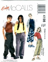 McCall's 4198 Boys Girls Tops & Pants in Two Lengths Size 7 - 12