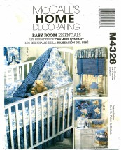 McCall's 4328 Sewing Pattern Baby Quilt Bumpers Mattress Cover Diaper Dispenser