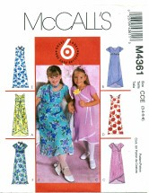 McCall's 4361 Dress & Scarf Size 3 - 6