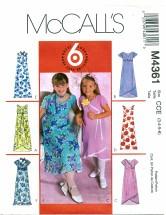 McCall's 4361 Dress & Scarf Size 3 - 6