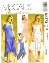 McCall's 4373 Sewing Pattern Misses Evening Elegance Formal Dress Size 8 - 14