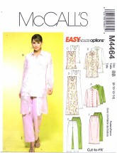 McCall's 4464 Jacket Duster Top Dress Skirt Pants Size 8 - 14 - Bust 31 1/2 - 36