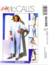 McCall's 4468 Duster Shirt Top Skirt Pants Size 10 - 16 - Bust 32 1/2 - 38