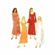 Misses Fitted Above Ankle Dress McCalls 4509 Sewing Pattern Size 8 - 10 - 12 - 14