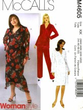 McCall's 4605 Tops Dress Skirt Pants Size 26 - 32