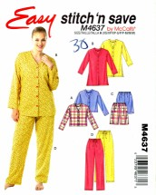 McCall's 4637 Sewing Pattern Misses Tops Shorts Pants Size 4 - 14